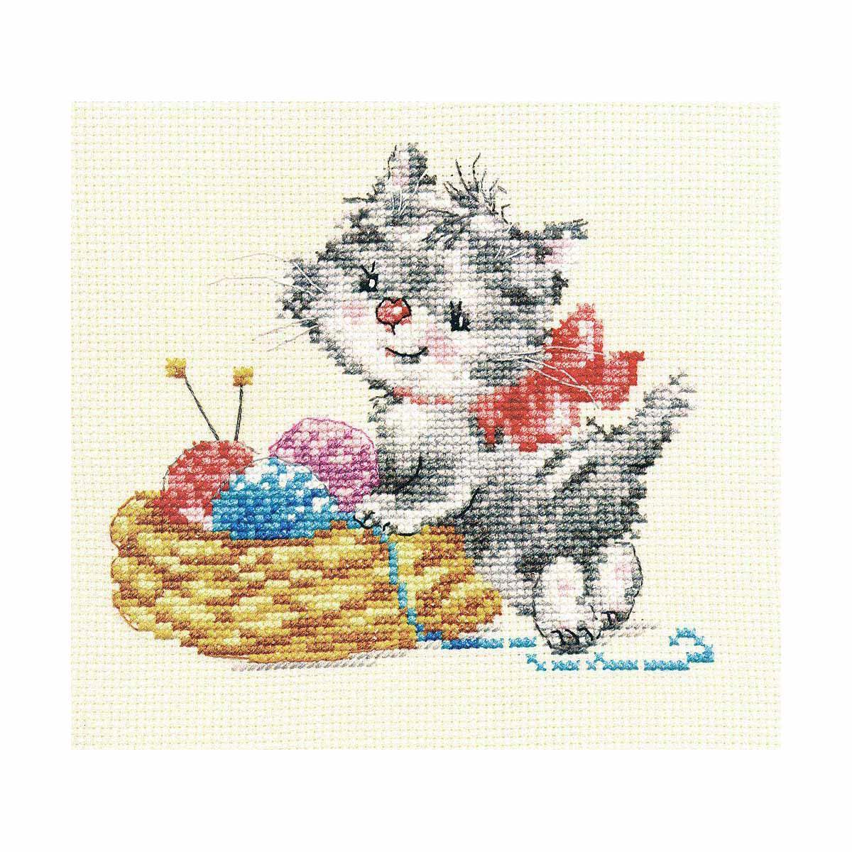0-97 Набор для вышивания АЛИСА 'Малышка-рукодельница' 13*12см