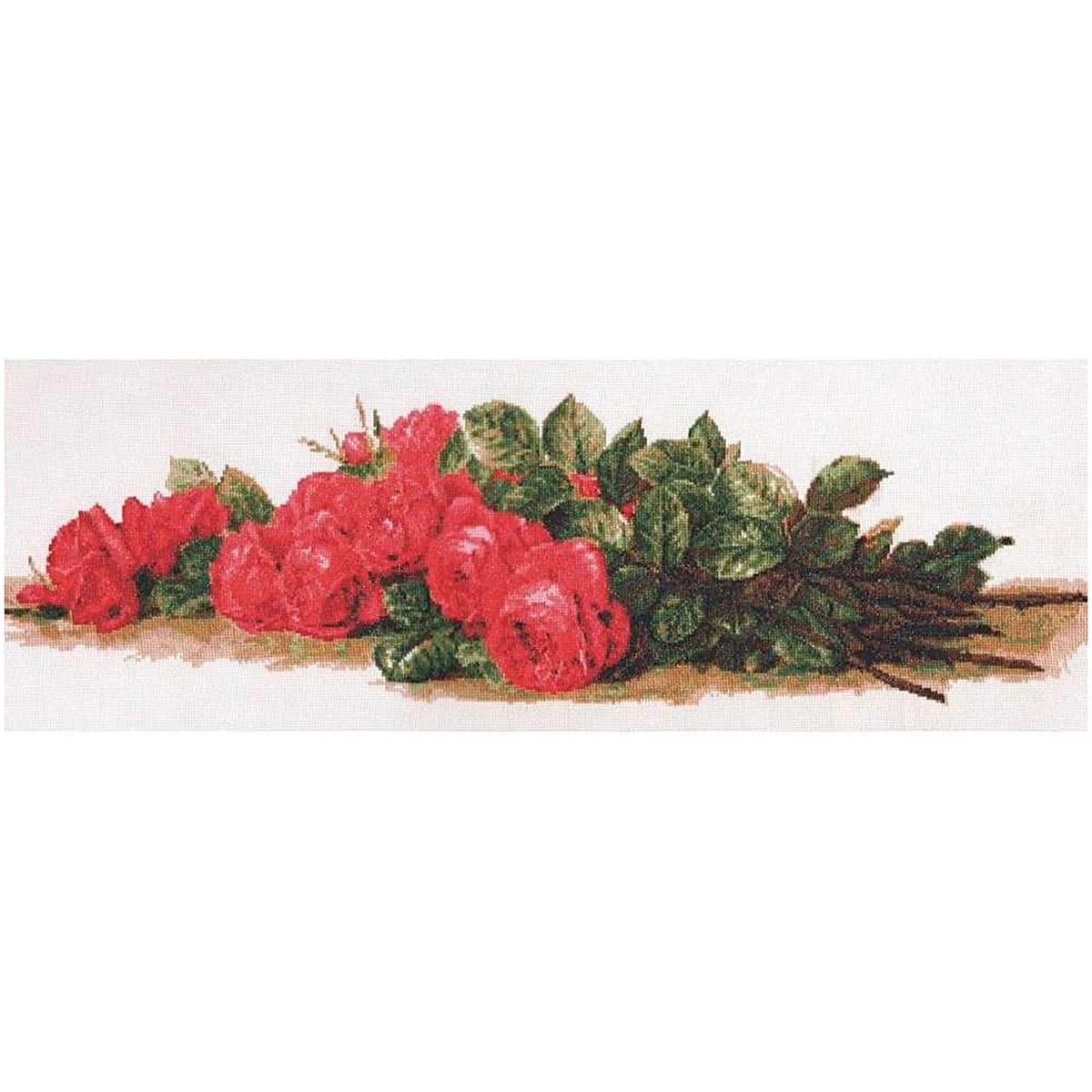 01.007 Набор для вышивания 'Палитра' 'Розы на столе', 59х20 см