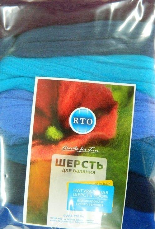 WF100/7 Шерсть для валяния, 100 гр. РТО