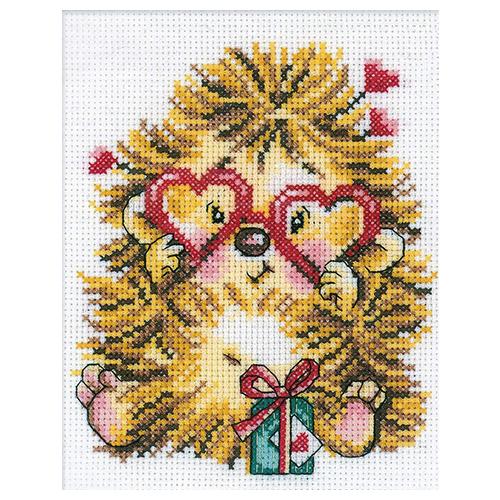 С152 Набор для вышивания RTO 'Влюбленный ежик', 13х17 см