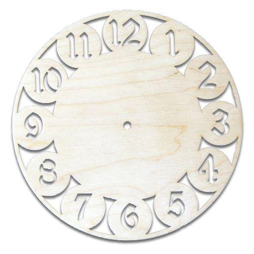 Деревянная заготовка Часы 23*23см 4мм (L