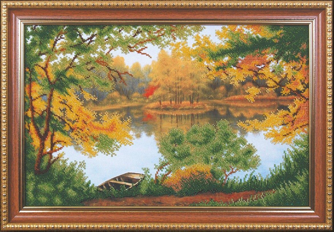 Б-119 Набор для вышивания бисером 'Магия канвы' 'Осенняя прогулка', 45,5x28,5 см
