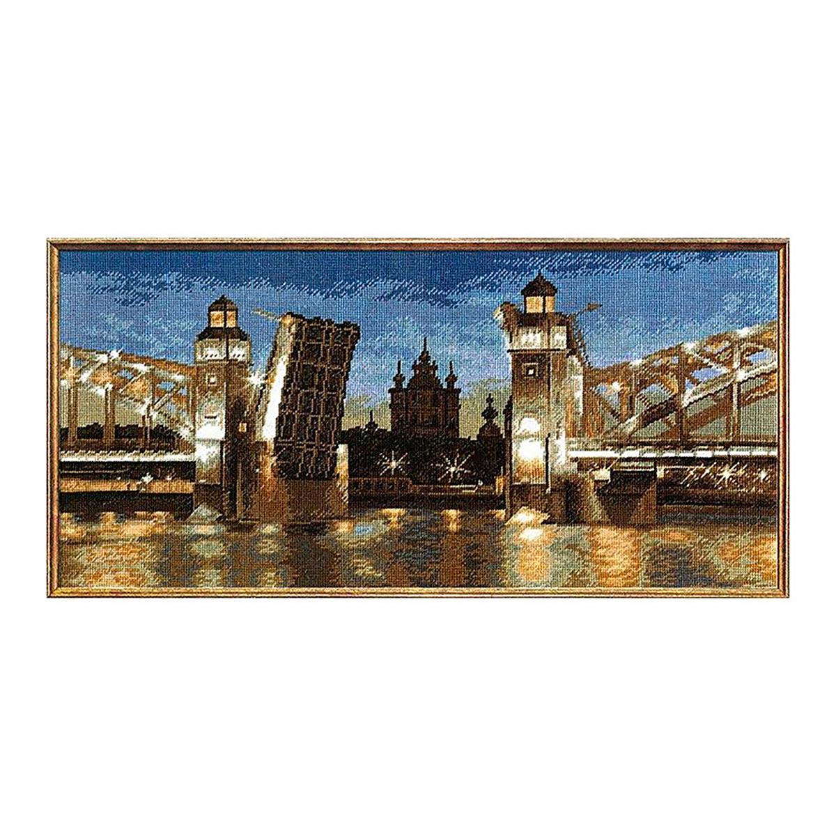 686 Набор для вышивания Hobby&Pro 'Большеохтинский мост', 48*23 см