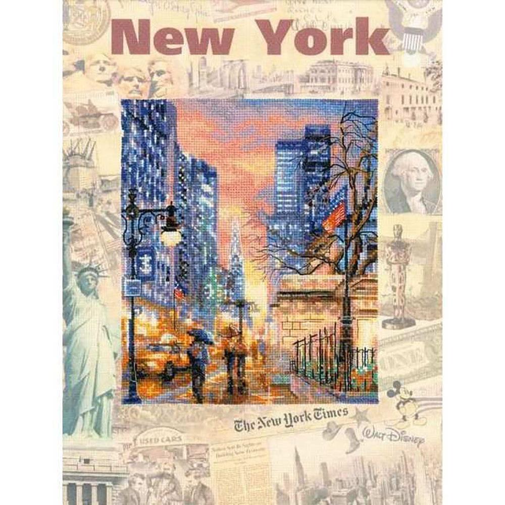 РТ-0025 Набор для вышивания Riolis 'Города мира. Нью-Йорк', 30*40 см