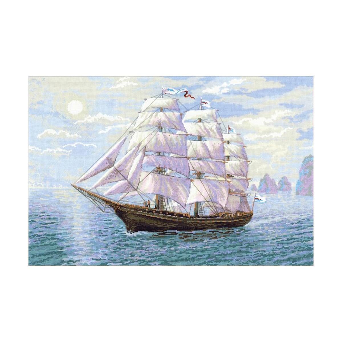1356 Набор для вышивания Riolis 'Попутный ветер', 60*40 см