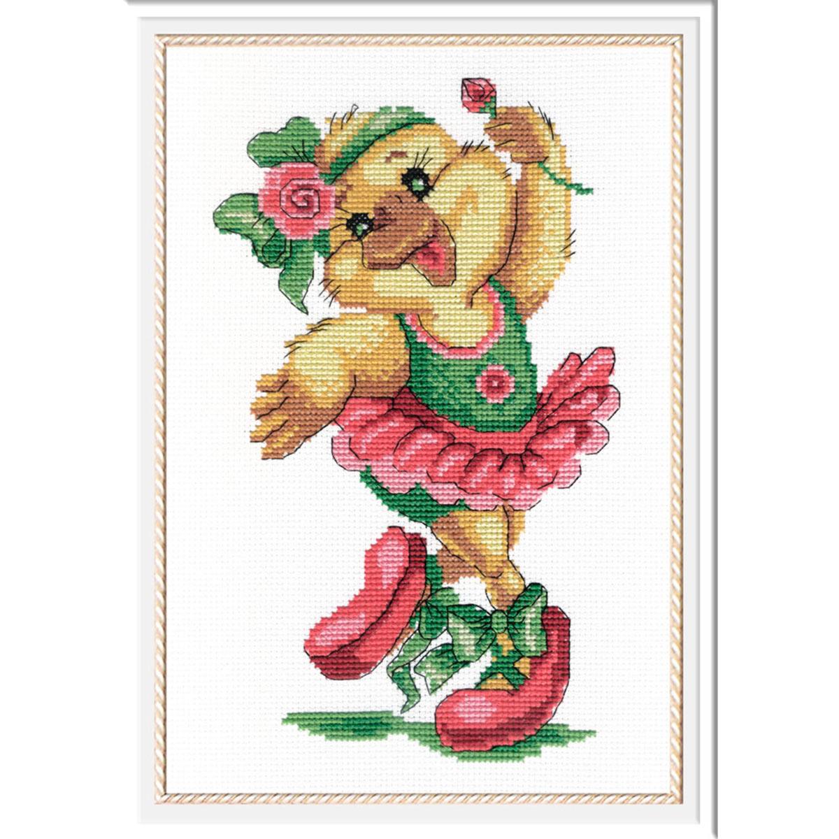 НВ-207 Набор для вышивания МП Студия 'Уточка-балерина' 25*18 см