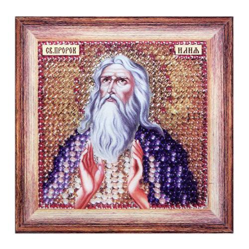 129ПМИ Набор для вышивания бисером 'Вышивальная мозаика' Икона 'Святой Пророк Илья', 6,5*6,5 см