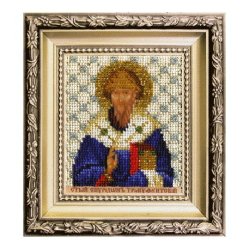 Б-1223 Набор для вышивания бисером 'Чарівна Мить' 'Спиридон Тримифунтский', 9*11 см