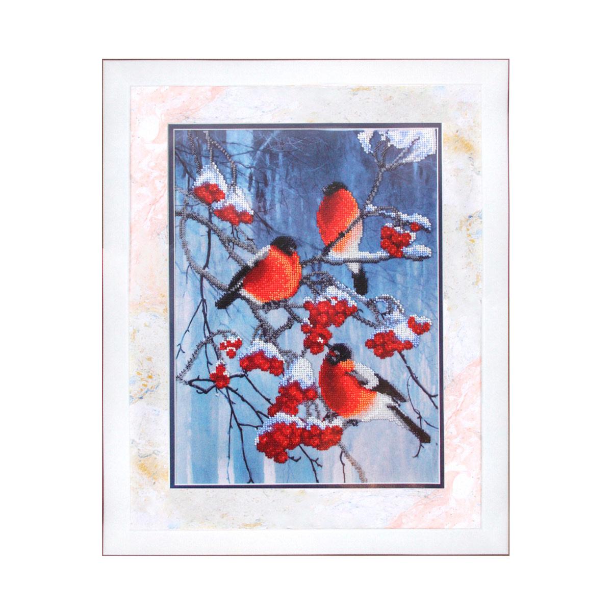 Б-681 Набор для вышивания бисером 'Чарівна Мить' 'Яркие краски зимы', 23,5*31,5 см