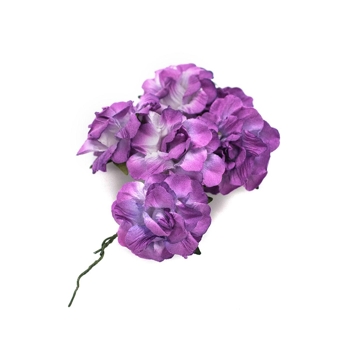 Кудрявые розы из бумаги, упак./8 шт.,