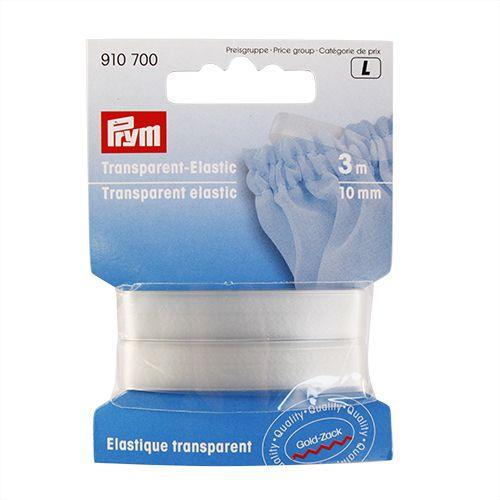 910700 Эластичная лента прозрачная, полиуретан 10 мм Prym