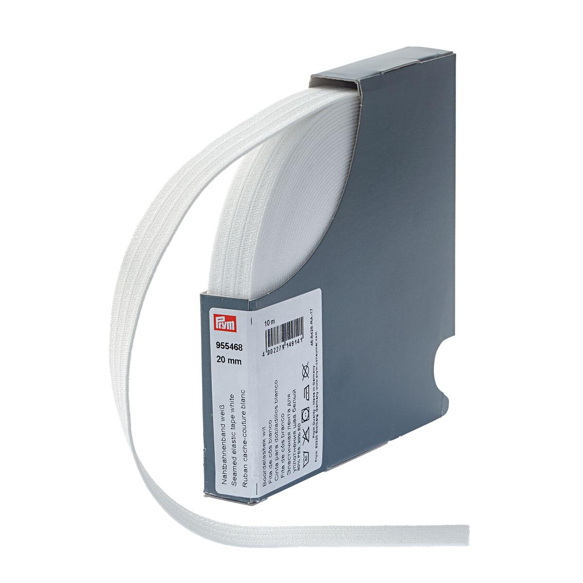 955468 Эластичная лента для уплотнения шва 20 мм белый, натуральный цв. Prym