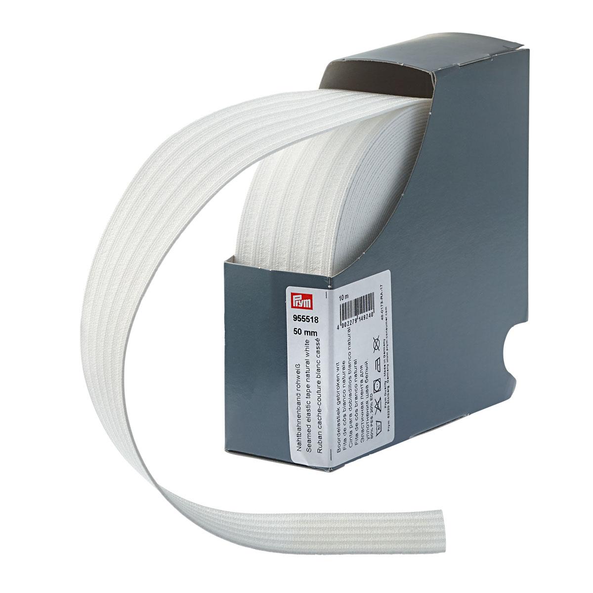 955518 Эластичная лента для уплотнения шва 50мм*10м белый, натуральный цв. Prym