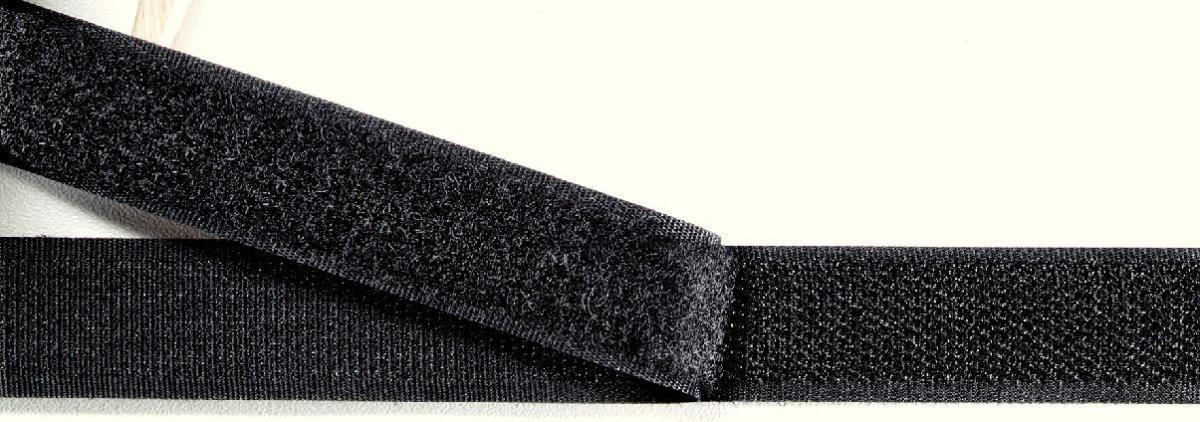 968802 Прилипающая часть контактной ленты (крючок), для пришивания, 20мм, черный цв. Prym