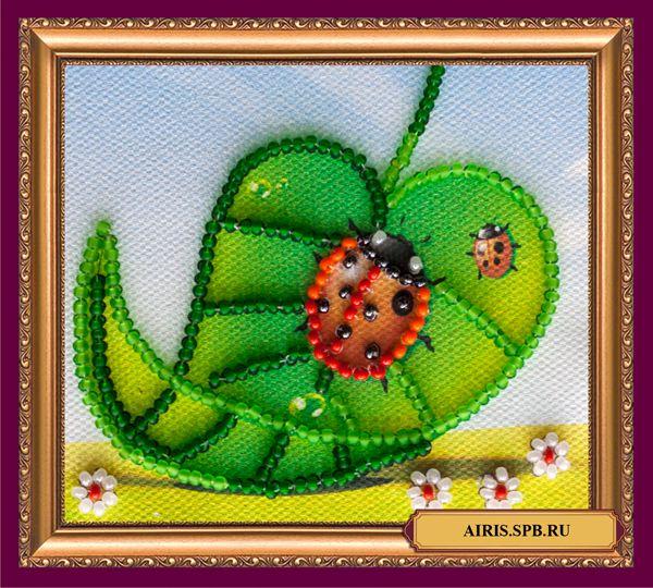 АМА-016 Набор-магнит для вышивания 'Абрис Арт' 'Божья коровка', 8*7 см