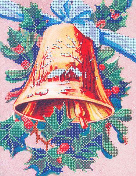 В1117 Канва с рисунком Alisena 'Колокольчик', 20*27 см
