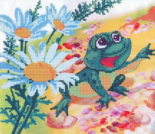 В1120 Канва с рисунком Alisena 'Лягушка', 24*21 см