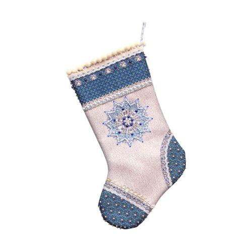 8200 Набор для шитья и вышивания 'Матренин посад' носочек 'Мерцающий иней', 19*30 см