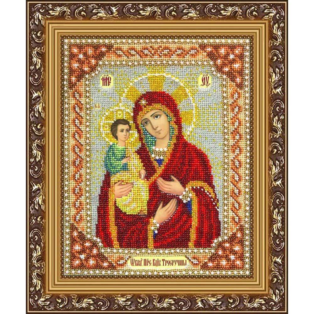 Б1016 Набор для вышивания бисером 'Паутинка' 'Пресвятая Богородица Троеручица', 20*25 см