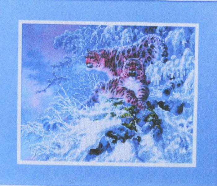 ВН1095 Набор для вышивания Alisena 'Снежные барсы', 31*25 см