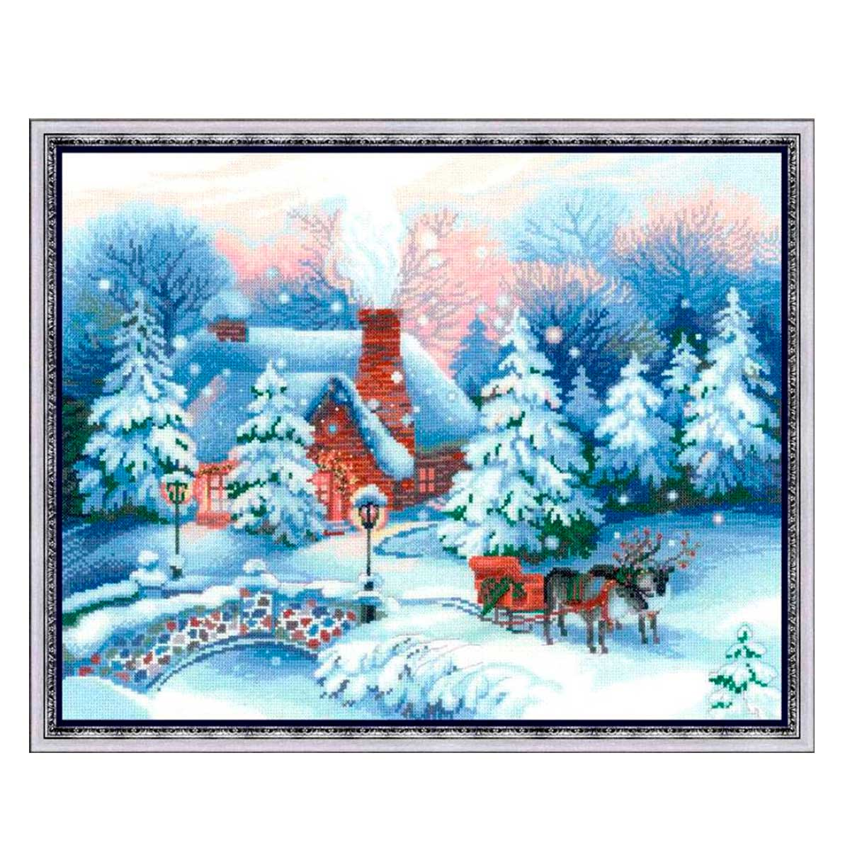 100/041 Набор для вышивания Riolis 'Накануне Рождества', 45*35 см