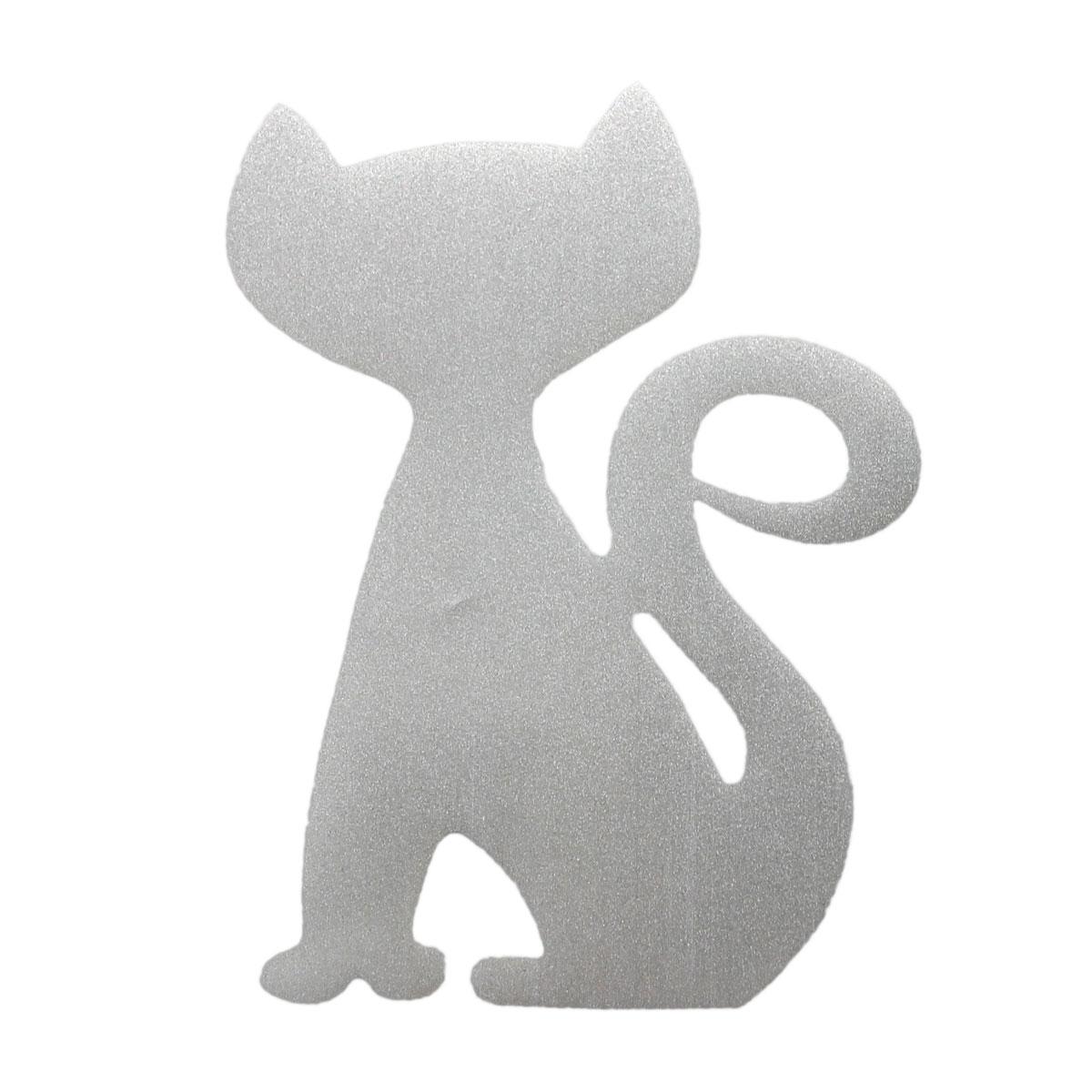 Светоотражающая наклейка на одежду 'Кот'