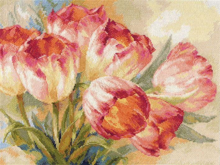 2-29 Набор для вышивания АЛИСА 'Тюльпаны' 40*30см