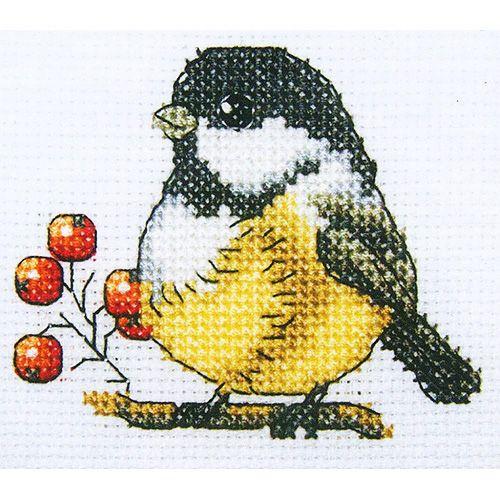 H219 Набор для вышивания RTO 'Синичка', 10x10 см