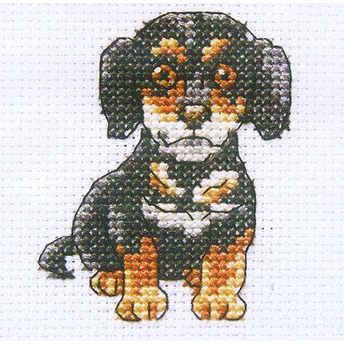 H233 Набор для вышивания RTO 'Любопытный Шерлок', 9x9 см