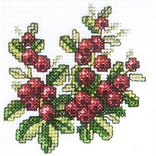 H249 Набор для вышивания RTO 'Брусника', 10x10 см