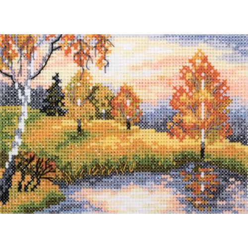 EH343 Набор для вышивания RTO 'Осенний лес', 11х7,5 см