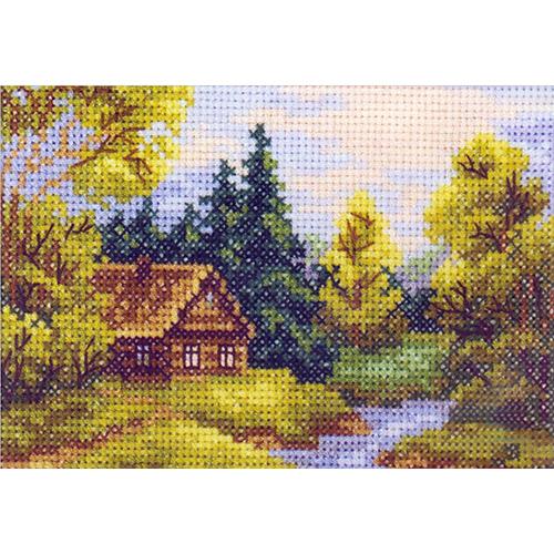 EH349 Набор для вышивания RТО 'На берегу реки', 11х7,5 см