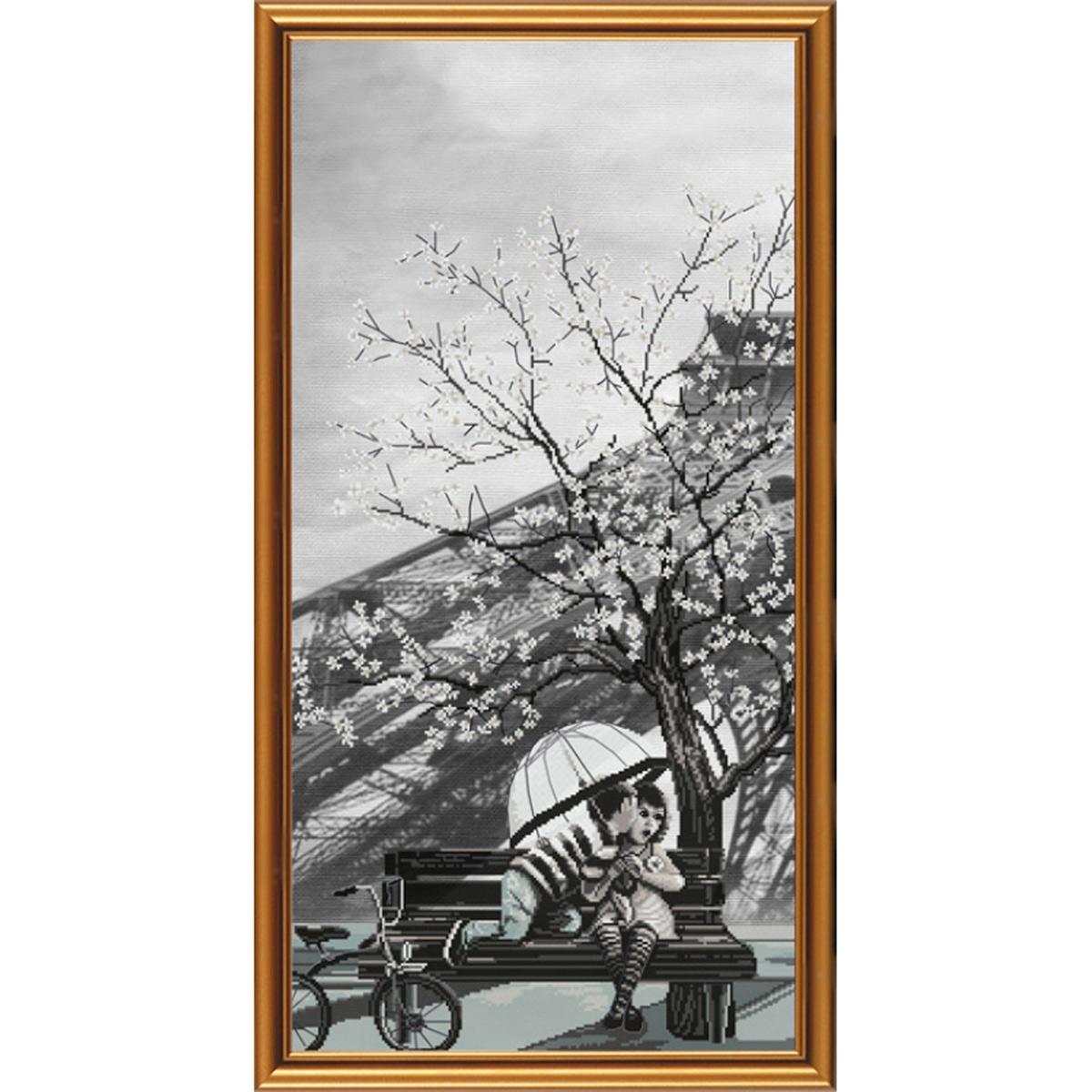 AC6008 Набор для вышивания 'Нова Слобода' 'Париж - город любви. Юность', 30х60 см