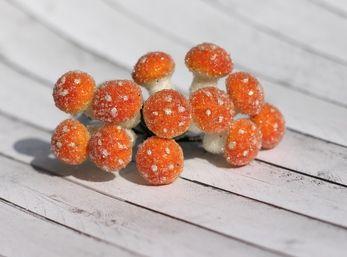 Грибочки оранжевые в обсыпке, 12 шт HY0010012578