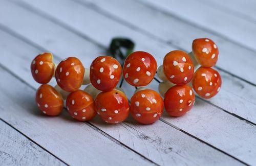 Грибочки оранжевые, 12 шт HY0010012579
