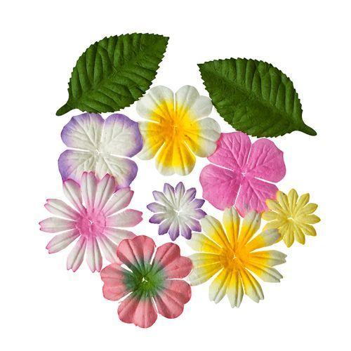 SCB300310 Набор цветочков с листочками 'Закат', упак./10 шт.