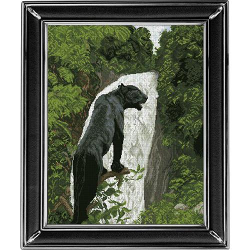 10513 Набор для вышивания Краса и творчество 'Черная пантера 1' 43,6*55,6 см