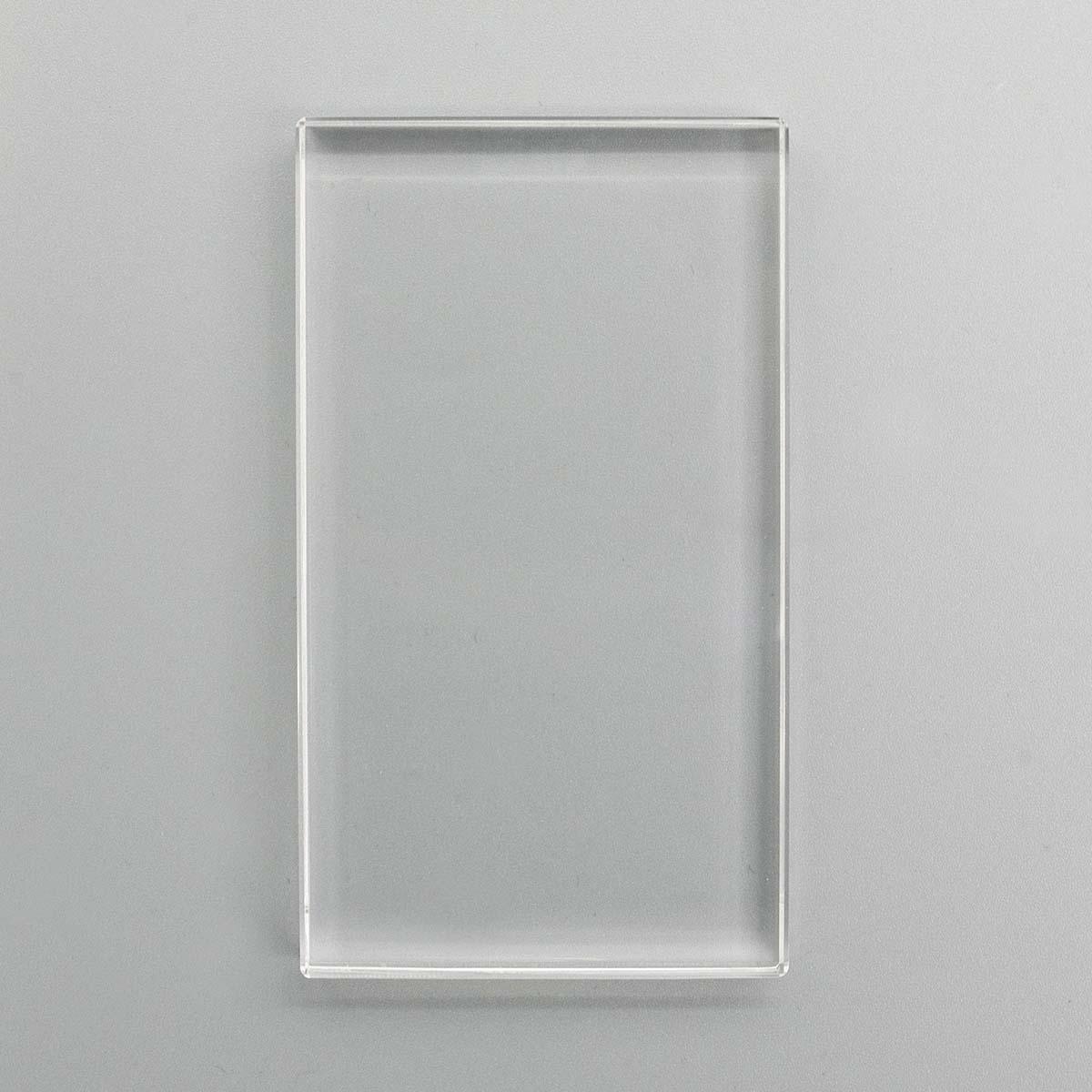 SCB4907072 (SCB070803) Акриловый блок для прозрачных штампов 57*102*10мм