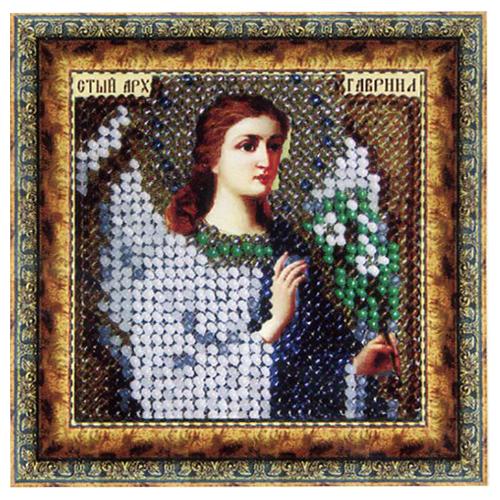 030ПМИ Набор для вышивания бисером 'Вышивальная мозаика' Икона 'Св. Архангел Гавриил', 6,5*6,5 см