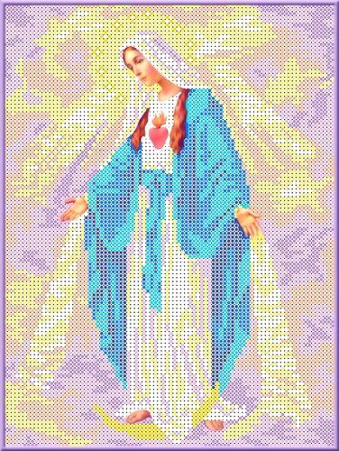 КБИ-4031 Канва с рисунком для бисера 'Дева Мария Непорочного Зачатия', А4