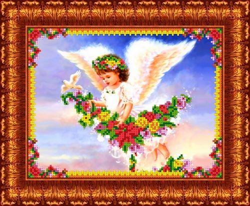 КБА-4002 Канва с рисунком для бисера 'Парящий ангел', А4