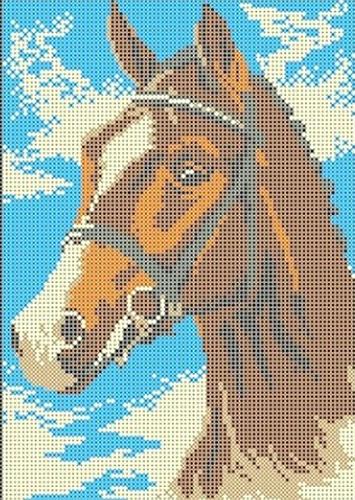КБЖ-4001 Канва с рисунком для бисера 'Лошадь', А4