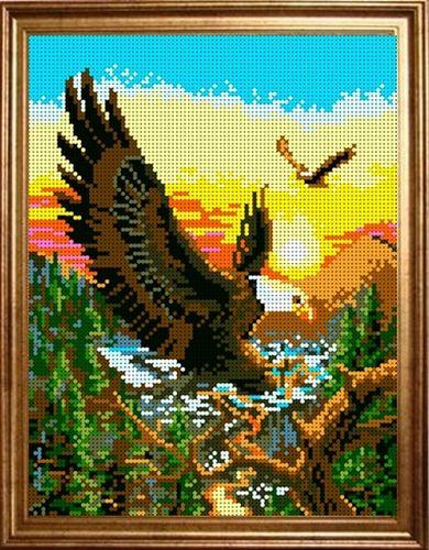 КБЖ-4002 Канва с рисунком для бисера 'Полет орла', А4