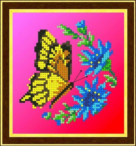 КББ-5001 Канва с рисунком для бисера 'Бабочка', А5