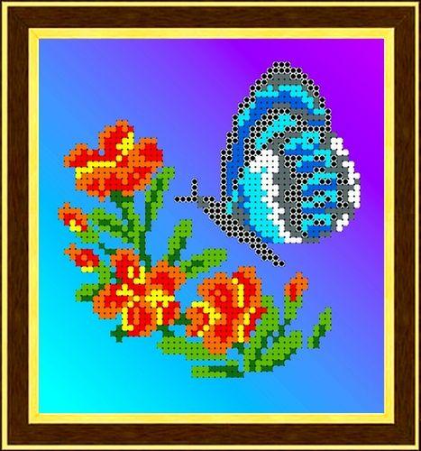 КББ-5002 Канва с рисунком для бисера 'Бабочка', А5