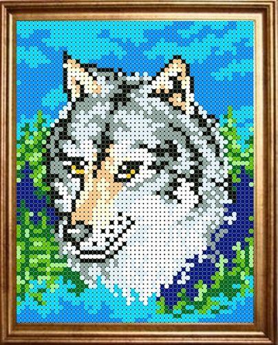 КБЖ-5002 Канва с рисунком для бисера 'Волк', А5