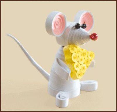 КВ-028 Набор для квиллинга 'Мышка' 8,5*6,5см