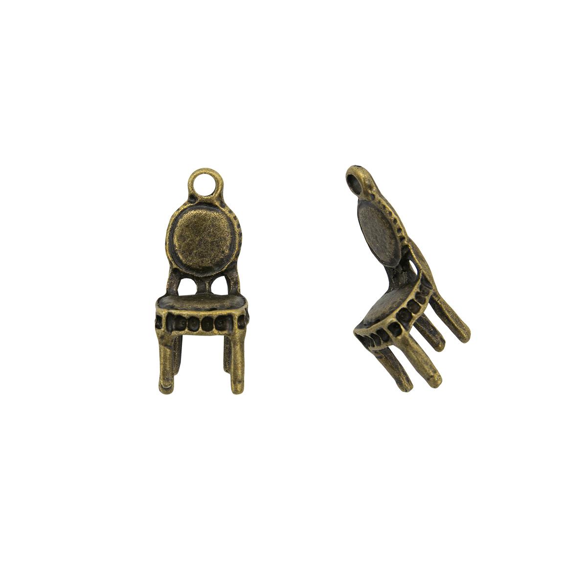 Набор металлических подвесок SCB 250120480b Стульчик медь, 10шт