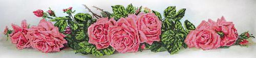 50090 Набор для вышивания бисером Astrea 'Алые розы', 70х16 см