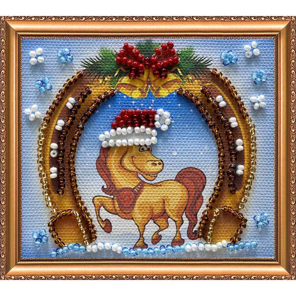 АМА-053 Набор-магнит для вышивания 8*7см 'С Новым годом-4'